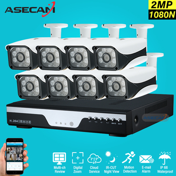Yeni 8 Kanal HD AHD 2MP Ev Açık Güvenlik Kamera Sistemi kiti 6led Array Video Gözetim 1080 P CCTV Kamera Sistemi 8ch DVR