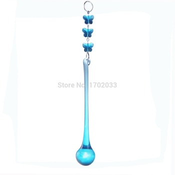 3 Butterfly Beads and Water Drop Lighting Accessories Crystal 10pcs Pendants For Chandelier Parts Home Decoration