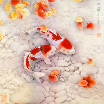 Full diamond painting scenic Carp chart diy rhinestones mosaic picture cross stitch,home decoration diamond embroidery crafts