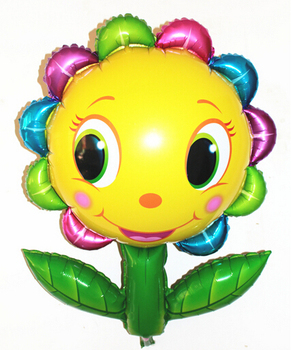 90cm cute smile big sunflower foil balloons,ballon,birthday wedding party decorations supplies friends girls boys baby shower