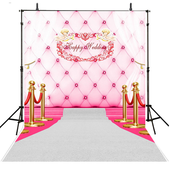 Wedding Photography Backdrops Vinyl Backdrop For Photography Pink Wedding Foto Background For Photo Studio Foto Achtergrond