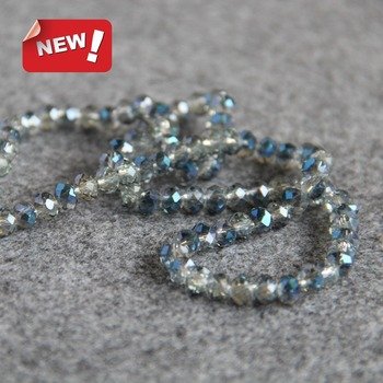 4x6mm Faceted Blue AB+ Colorful Glass Crystal Beads Loose 15inch DIY Jewelry Making Design Wholesale Semi Finished Stones Balls