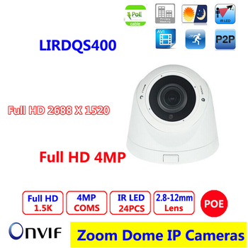 4MP IP Kamera CCTV Kamera IP Kapalı ve Açık 2.8-12mm Varifocal Lens Ağ Dome Kameralar