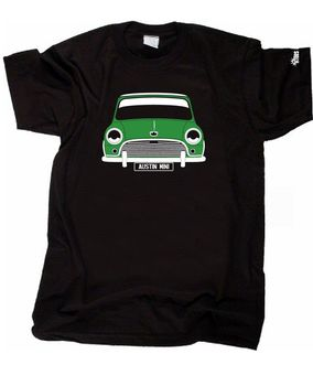 ÖZEL HTees T-shirt-AUSTIN MINI MK1 (Cooper vb), Pick araba renk & plaka
